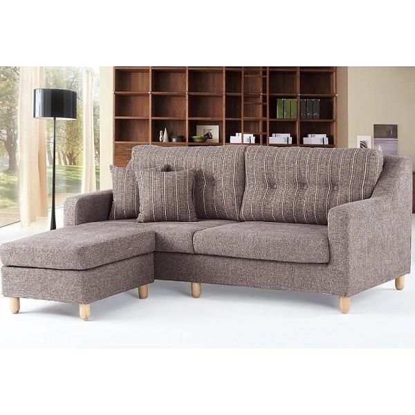 沙發 L型布沙發 PK-273-2 847 L型咖啡布沙發 (左右通用)【大眾家居舘】