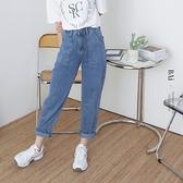 大口袋高腰繭型牛仔哈倫褲M-XL號-BAi白媽媽【310794】