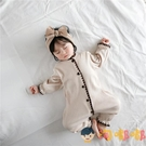 嬰兒哈衣公主長袖爬服針織連身衣女寶寶居家服【淘嘟嘟】