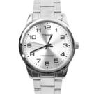 CASIO手錶 基本款銀色數字鋼錶NECE2
