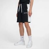 F-NIKE NSW AIR SHORT FT 短棉褲 黑白 抽繩 休閒 拉鍊 口袋 男 CJ9948-010