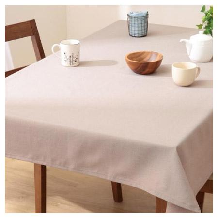 撥水加工 桌布 PLAIN BR 130×170 褐色 NITORI宜得利家居