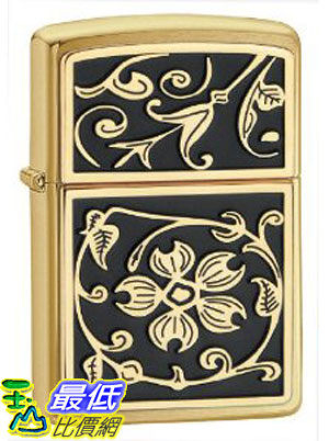 [美國直購 ShopUSA] Zippo Gold Floral Flush Emblem Lighter 20903 $1663