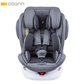 【預購11月初到貨】Osann Swift360 Plus 0-12歲360度旋轉多功能汽車座椅-鈦晶灰(isofix/安全帶 兩用)