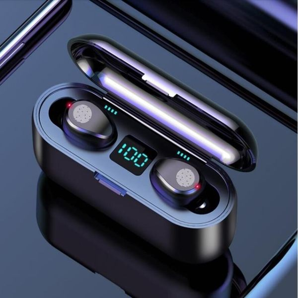 F9觸摸藍芽耳機5.0無線雙耳入耳式HIFI音質9/18