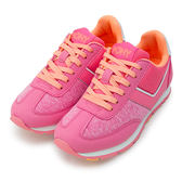 LIKA夢 PONY 繽紛韓風復古慢跑鞋 SOHO 冰淇淋系列 粉紅橘 53W1SO76PK 女 6折好康