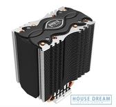 電腦散熱器 超頻三鐵塔 cpu散熱器amd am4靜音銅管臺式機電腦cpu風扇