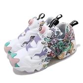 Reebok 休閒鞋 Instapump Fury OG Distortedd 白 彩色 女鞋 塗鴉設計 復古 運動鞋 【ACS】 FU7743
