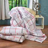 《簡約格麗》 吸濕排汗法式天絲涼被三件組 (150x195cm) 買涼被就送同款枕套2入 台灣製作