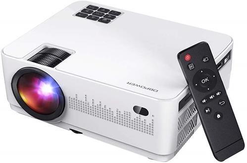 【日本代購】[2019最新4200lm] DBPOWER 4200lm投影機1080P全高清相容LED投影