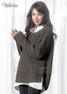 ◆ 商品貨號:Y65017-48  ◆ 寬鬆長版線衫,穿出女孩隨性慵懶風◆【商品只退不換】