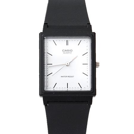 CASIO卡西歐 方形簡約刻度設計透氣膠錶 黑白配色 輕巧中性款手錶【NE1854】原廠公司貨
