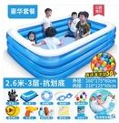 游泳池 盈泰充氣游泳池家用加厚小孩嬰兒家庭超大泳池戶外大型兒童水池 星河光年DF