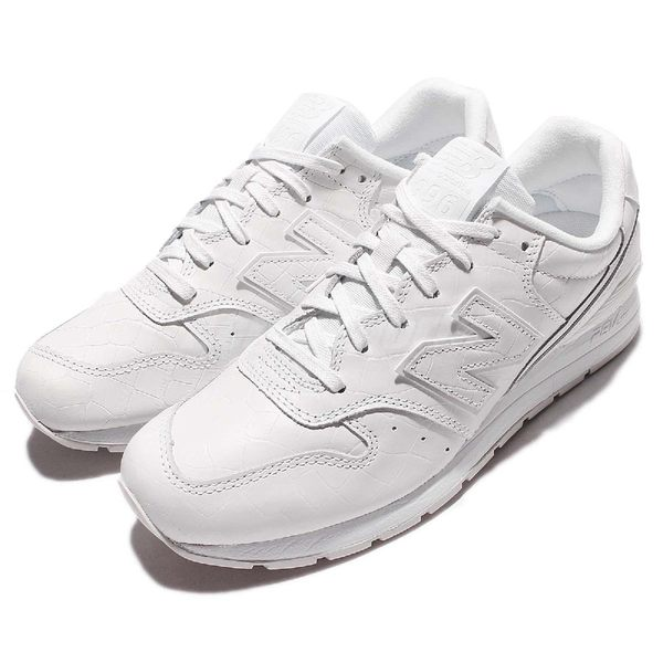 【五折特賣】New Balance 復古慢跑鞋 NB 996 白 全白 鱷魚紋 皮革 休閒鞋 男鞋【PUMP306】 MRL996MFD