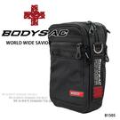 黑色防潑水耐磨小側背包/腰包  AMINAH~【BODYSAC B1505】
