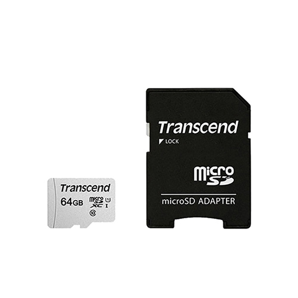 創見 Transcend microSDXC 300S UHS-I U1 C10 IPX7 / 64G 記憶卡