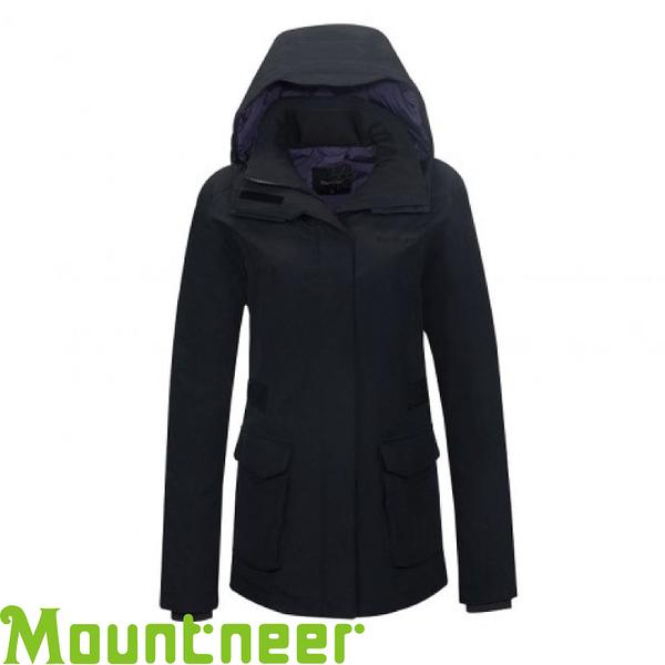 【Mountneer 山林 女款 防水保暖羽絨外套《黑》】22J16/90羽絨/10羽毛/750FP