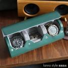 兩錶位圓形收納盒戒指盒旅行便攜手錶盒皮質錶盒首飾盒 全館新品85折 YTL