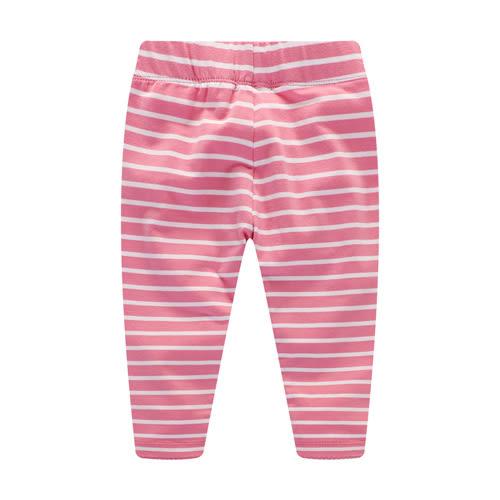 歐美風格女童純棉內搭褲-粉條紋