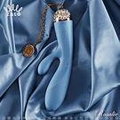 情趣用品-按摩棒 法國ZALO 凡爾賽系列 Rosalie雙震動8段變頻G點按摩棒 金屬表面24k金 藍色