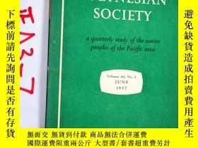 二手書博民逛書店THE罕見JOURNAL OF THE POLYNESIAN SOCIETY..1957年6月Y3699 TH
