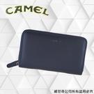 【CAMEL】男用長夾 進口牛皮 手機護照夾 (58811-3深藍色)【威奇包仔通】