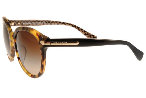 COACH 太陽眼鏡 COS8140F 530913 (琥珀) 簡約魅力小貓眼款 # 金橘眼鏡