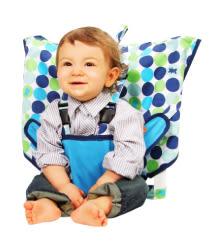 里和Riho 美國My Little Seat可攜式嬰兒安全座椅套 清新點點 安全椅套 彌月禮 免運