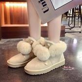 雪靴 皮毛一體雪地靴女2019冬新款平底加絨保暖孕婦棉鞋百搭防滑毛毛鞋35-40碼 6色