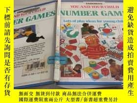 二手書博民逛書店USBORNE罕見YOU AND YOUR CHILD NUMBER GAMES Lots of play ide