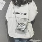 ins超火透明迷你小包包女新款果凍錬條包韓版百搭斜背包 黛尼時尚精品