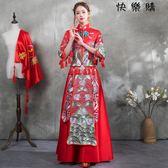 款中式婚紗中國風敬酒服旗袍女
