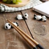 舍里 創意陶瓷筷子架 筷枕筷座 卡通熊貓筷架筷子托 廚房餐具用品