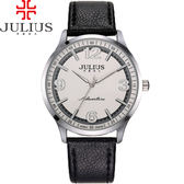 JULIUS 聚利時 無限旅程立體數字皮錶帶腕錶-黑色/40mm 【JA-940MC】