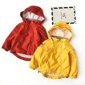女童時髦外套 洋氣防風外套 連帽風衣有裡襯 男童女童 透氣舒適  秋裝 聖誕免運