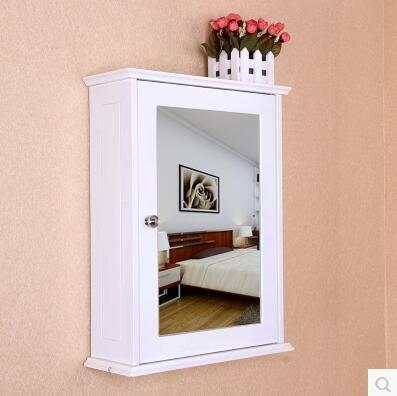 白色方鏡櫃掛櫃牆櫃衛生間壁櫃吊櫃防水衛浴室鏡箱儲物置物收納櫃