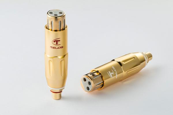 《名展影音》黃金般光澤的高貴氣息! 金系列Telos 銅鍍金XLR轉RCA平衡轉接頭 (母) / 對