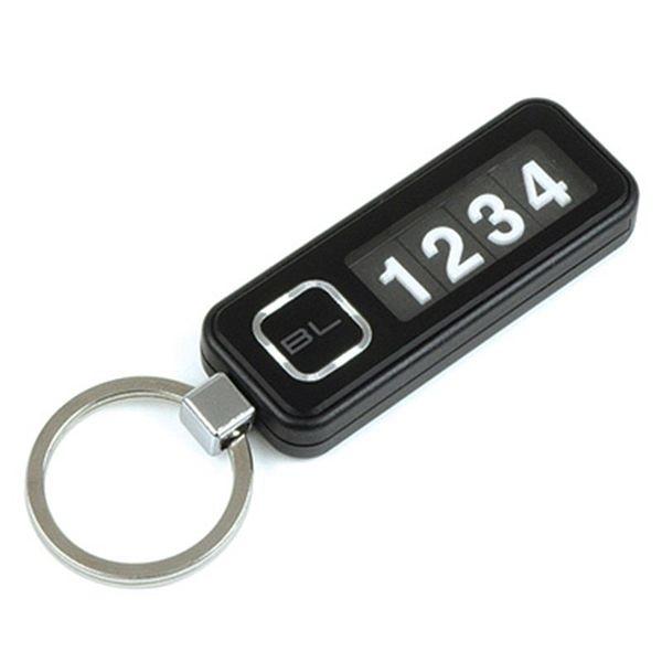 車之嚴選 cars_go 汽車用品【DA659】韓國 FOURING 高質感車尾號碼牌鑰匙圈 (附數字可更換號碼)