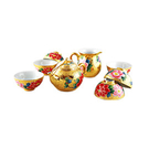 【收藏天地】富貴圓滿茶壺組-富貴牡丹 8件套組