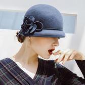 盆帽-秋冬優雅氣質時尚女羊毛呢帽4色73tk13[巴黎精品]