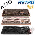 [ PC PARTY ] AZIO RETRO CLASSIC 頂級 復古打字機 真皮 機械軸鍵盤 白光