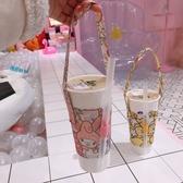 水杯手提袋 可愛奶茶帶 防燙奶茶杯手提袋 創意便攜咖啡杯杯套 4色 快速出貨