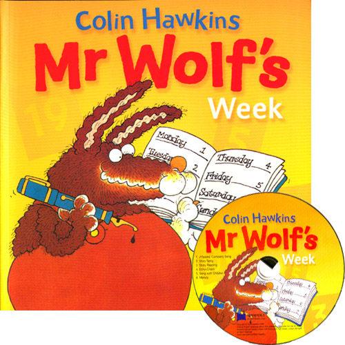 【麥克書店】MR WOLF'S WEEK /英文繪本附CD《主題: 星期. 天氣. 幽默》 ※2013年暢銷之最※