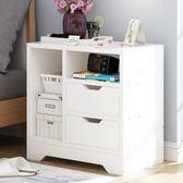 床頭櫃收納櫃簡易櫃子儲物櫃臥室簡約現代床邊櫃床櫃 xw免運 可分期