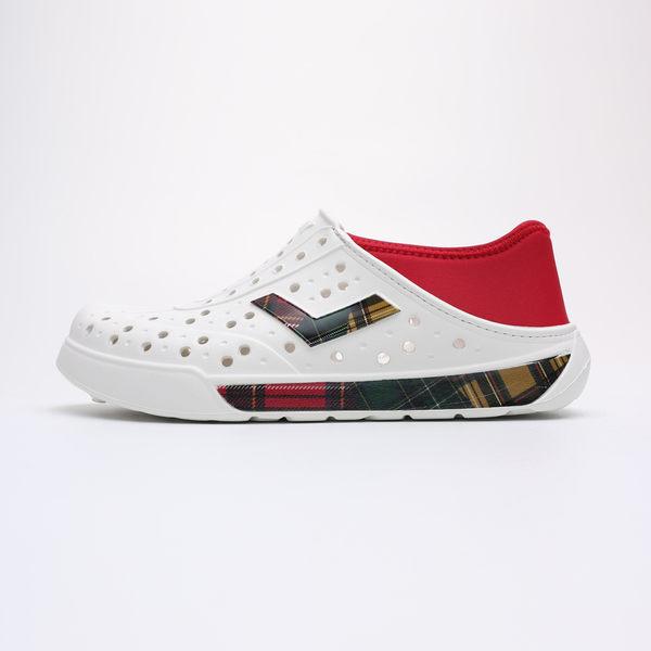 PONY 白紅 紅 綠 黃 格紋 後跟可踩 水鞋 洞洞鞋 情侶 男女(布魯克林) 93U1SA01RW