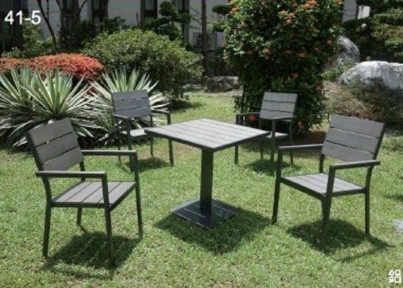 【南洋風休閒傢俱】戶外休閒桌椅系列-塑木休閒餐桌椅組 餐桌椅組 適戶外 餐廳 民宿(PT-070 + PC151)