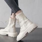 馬丁靴 馬丁靴女潮ins英倫風2020新款瘦瘦鞋春秋單靴夏季薄款厚底短靴子 韓國時尚週