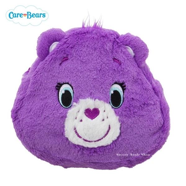 日本限定 Care Bears 彩虹熊 絨毛 收納包 / 化妝包 (紫)