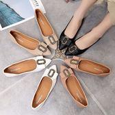 樂福豆豆鞋平底單鞋女夏 春季新款尖頭孕婦豆豆鞋淺口百搭護士工作鞋女 喵小姐