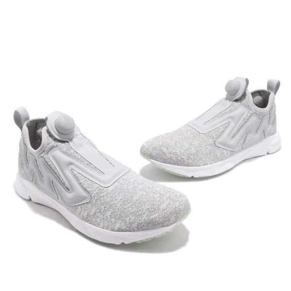 Reebok 慢跑鞋 Pump Supreme 灰 白 充氣襪套式 輕量設計 休閒鞋 運動鞋 男鞋【PUMP306】 CN2937